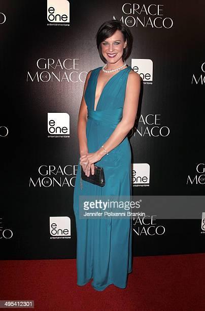 Natarsha Belling arrives at the Australian premiere of 'Grace of Monaco' at Dendy Opera Quays on June 3 2014 in Sydney Australia