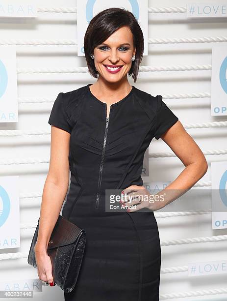 Natarsha Belling arrives at the Opera Bar launch party at the Sydney Opera House on December 10 2014 in Sydney Australia