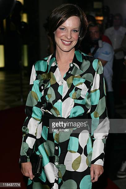 Natarsha Belling attends the Sydney premiere of 'The Black Balloon' at the Dendy Opera Quays on February 27 2008 in Sydney Australia
