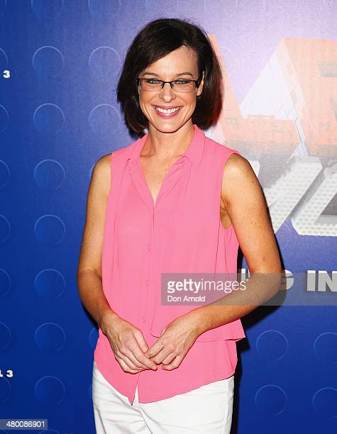 Natarsha Belling attends the Sydney premiere of The LEGO Movie at Event Cinemas on March 23 2014 in Sydney Australia