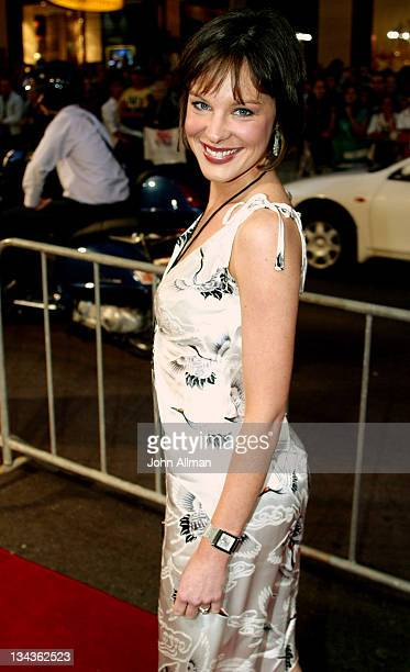 Natarsha Belling newscaster for Network Ten during 'Bridget Jones The Edge of Reason' Sydney Premiere at State Theatre in Sydney NSW Australia