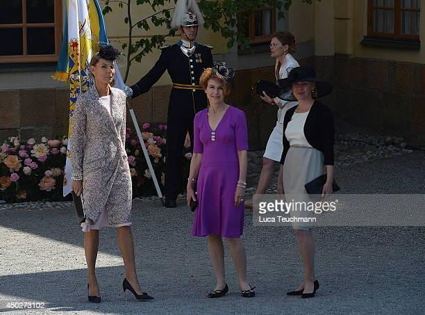 Natascha Abensperg arrives for Princess Leonore's Royal Christening at Drottningholm Palace Chapel on June 8 2014 in Stockholm Sweden