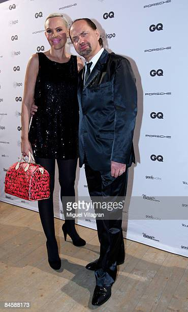 Natascha and Uwe Ochsenknecht arrive at the GQ Style Night at the MVG Museum on February 02, 2009 in Munich, Germany.