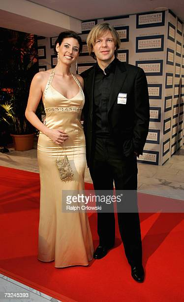Natascha Berg and Michael Steinbrecher arrive at the 15 th German Media Award 2006 at the Congress Hall on February 7 2007 in BadenBaden Germany
