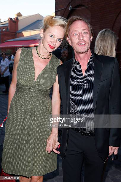 Natascha Berlin and Wilfried Hochholdinger attend the Audi Classic Open Air in the Kulturbrauerei on August 15 2012 in Berlin Germany