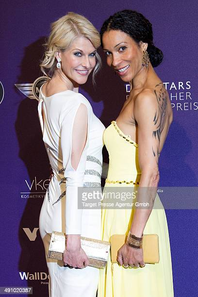 Natascha Gruen and Anabelle Mandeng attend the Duftstars Awards 2014 at arena Berlin on May 15 2014 in Berlin Germany