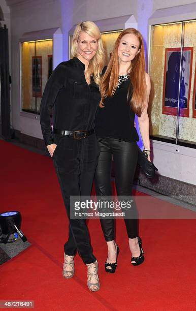 Natascha Gruen and Barbara Meier attend 'Die Spiegel-Affaere' Preview at Gloria Palast on April 28, 2014 in Munich, Germany.