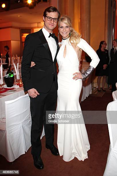 Natascha Gruen and brother Gernot attend the German Film Ball 2014 at Hotel Bayerischer Hof on January 18 2014 in Munich Germany