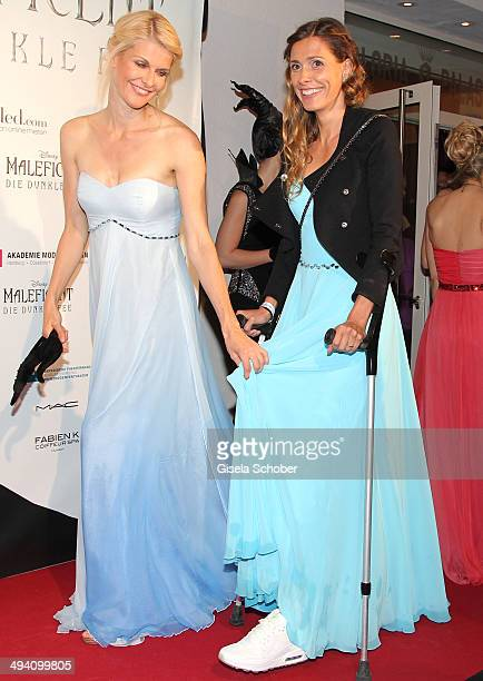 Natascha Gruen and Conny Lehmann attend the Fashion Meets Movie gala screening of Maleficent at Gloria Palast on May 27 2014 in Munich Germany