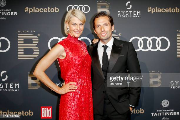 Natascha Gruen and her partner Quirin Berg attend the Place To Be Party after the Lola German Film Award on April 28 2017 in Berlin Germany
