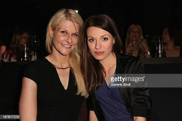 Natascha Gruen and Julia Hartmann attend 'Add a Friend' Preview Event of TNT Serie at Bayerischer Hof on April 30 2013 in Munich Germany The second...