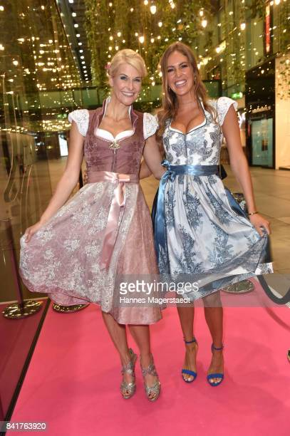 Natascha Gruen and Maria Imizcoz during the GlamWasen celebration in cooperation with Dresscoded at Armani Caffe at Fuenf Hoefe on September 1 2017...