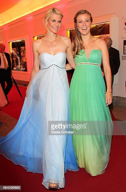 Natascha Gruen and Nina Eichinger attend the Fashion Meets Movie gala screening of 'Maleficent' at Gloria Palast on May 27 2014 in Munich Germany
