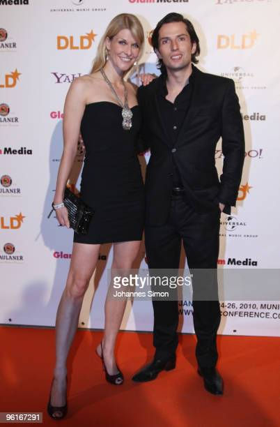 Natascha Gruen and Quirin Berg arrive for the DLD Starnight at Haus der Kunst on January 25 2010 in Munich Germany