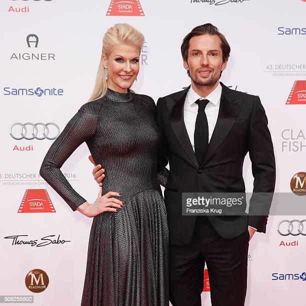 Natascha Gruen and Quirin Berg during the German Film Ball 2016 at Hotel Bayerischer Hof on January 16 2016 in Munich Germany
