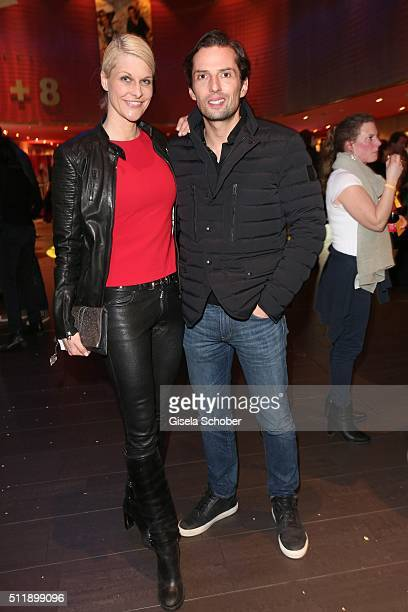 Natascha Gruen and Quirin Berg during the German premiere of the film 'Der geilste Tag' on February 23 2016 in Munich Germany