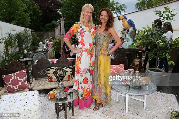 Natascha Gruen and Sinta Weisz during the 'Triumph Maison Party' at Palais Nr 6 Schloss Nymphenburg on June 15 2016 in Munich Germany