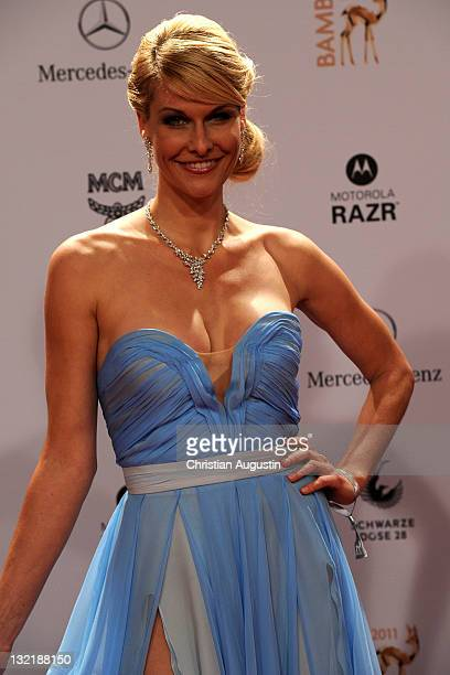 Natascha Gruen attend the Red Carpet for the Bambi Award 2011 ceremony at the RheinMainHallen on November 10 2011 in Wiesbaden Germany