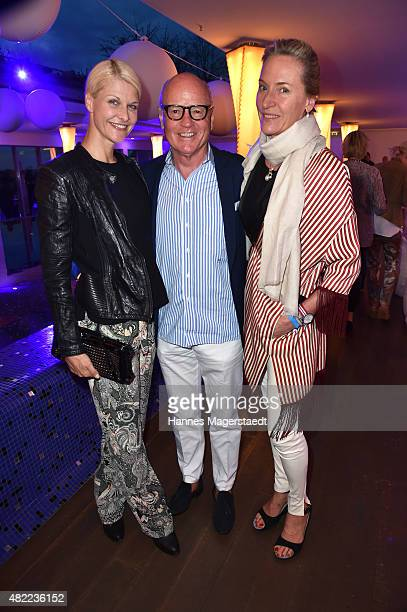 Natascha Gruen Detlev von Wangenheim and his wife Leslie von Wangenheim attend the summer party at Hotel Bayerischer Hof on July 28 2015 in Munich...