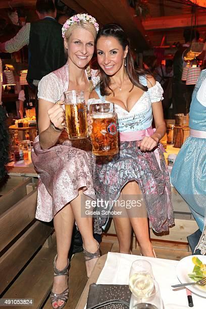 Natascha Gruen Dresscoded and Designer Joana Danciu during the Oktoberfest 2015 at Kaeferschaenke at Theresienwiese on Oktober 02 2015 in Munich...