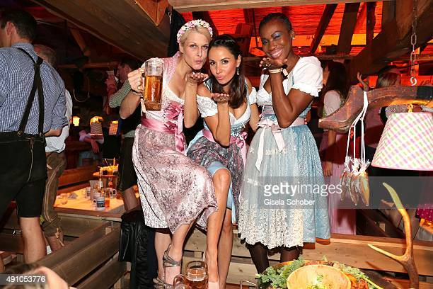 Natascha Gruen Dresscoded Designer Joana Danciu and Nicole Coste mother of Albert of Monaco's son Alexandre wearing a dirndl by Joana Danciu during...