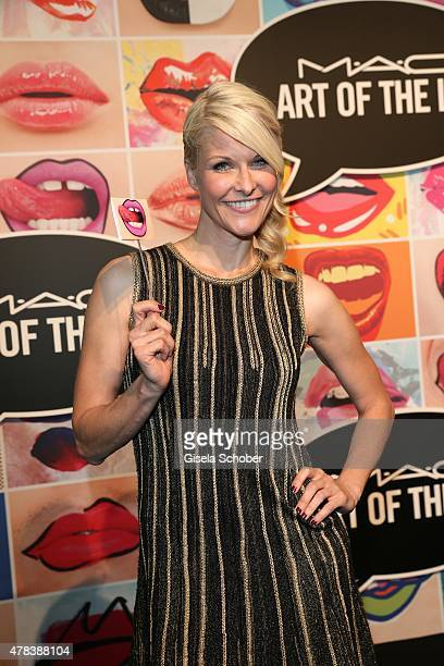 Natascha Gruen during the presentation of 'Art of the Lip' by MAC Cosmetics at Haus der Kunst on June 24 2015 in Munich Germany