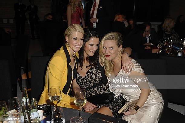 Natascha Gruen; Mariella Ahrens and Magdalena Brzeska attend the Mira Award 2013 at Station on January 24, 2013 in Berlin, Germany.
