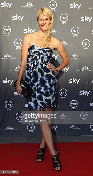 Natascha Gruen poses during a photo opportunity before the screening of the Germany premiere on TNT Serie 'Falling Skies' on June 21, 2011 in Munich,...