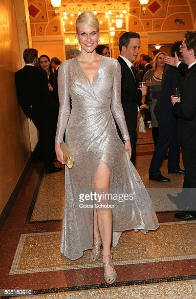 Natascha Gruen wearing a dress by Talbot Runhof during the Bavarian Film Award 2016 at Prinzregententheater on January 15 2016 in Munich Germany