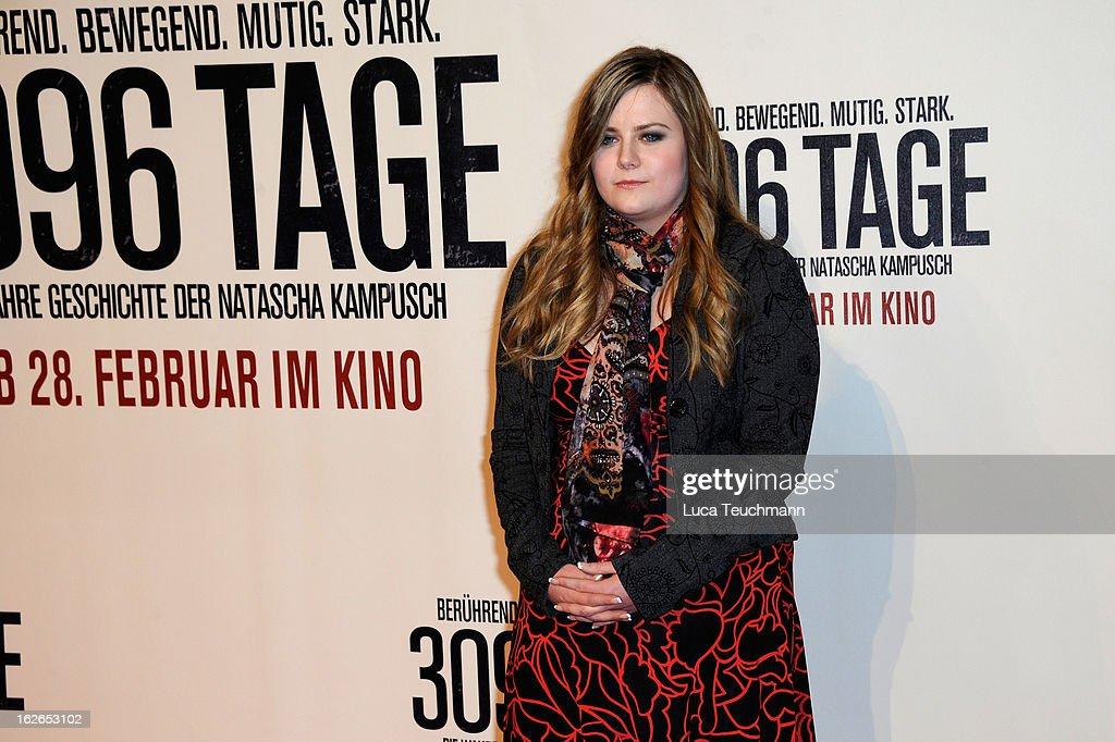 Natascha Kampusch attends the '3096 Tage' World Premiere at Cineplexx Wienerberg on February 25, 2013 in Vienna, Austria.