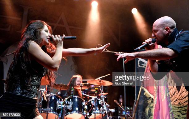 Natascha Koch and Georg Neuhauser of Serenity perform live on stage at KOKO on November 1 2017 in London England