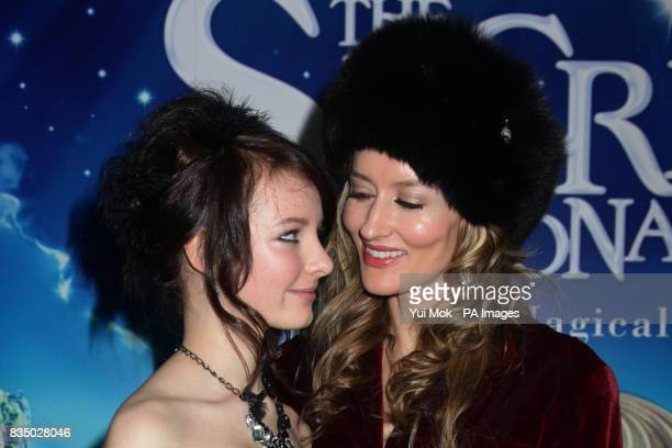 Natascha McElhone and Dakota Blue Richards arrive at the UK film premiere of The Secret of Moonacre at the Vue Leicester Square London