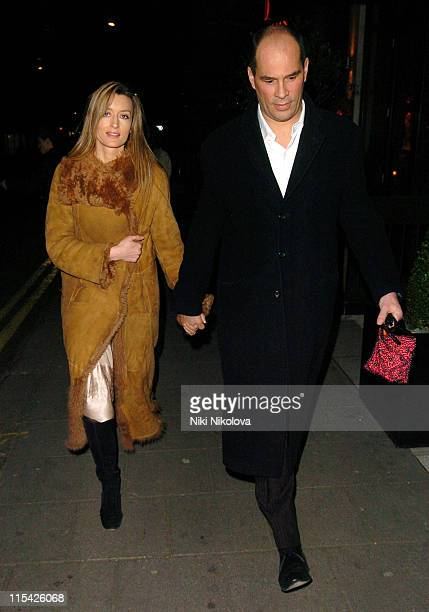 Natascha McElhone and guest during 'The White Countess' London Premiere Departures at Curzon Mayfair in London Great Britain