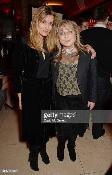 Natascha McElhone and Helen Lederer attend the 2013 Costa Book of the Year Awards at Quaglinos on January 28 2014 in London England