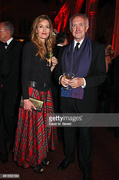 Natascha McElhone and Jonathan Pryce attend a cocktail reception at the BFI Luminous Fundraising Gala in partnership with IWC and crystals by...