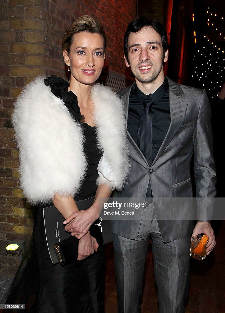 Natascha McElhone (L) and Ralf Little attend an after party celebrating the 24 Hour Musicals Gala Performance at Vinopolis on December 9, 2012 in London, England.