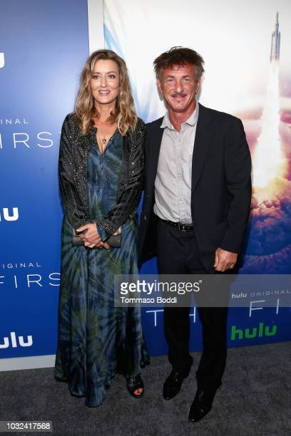 Natascha McElhone and Sean Penn attend Hulu's The First Los Angeles Premiere on September 12 2018 in Los Angeles California