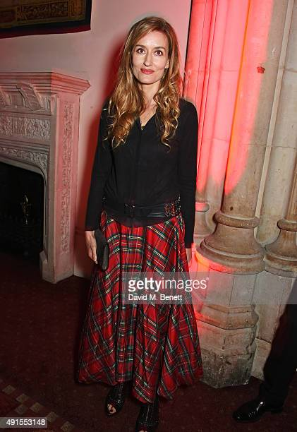 Natascha McElhone attends a cocktail reception at the BFI Luminous Fundraising Gala in partnership with IWC and crystals by Swarovski at The...