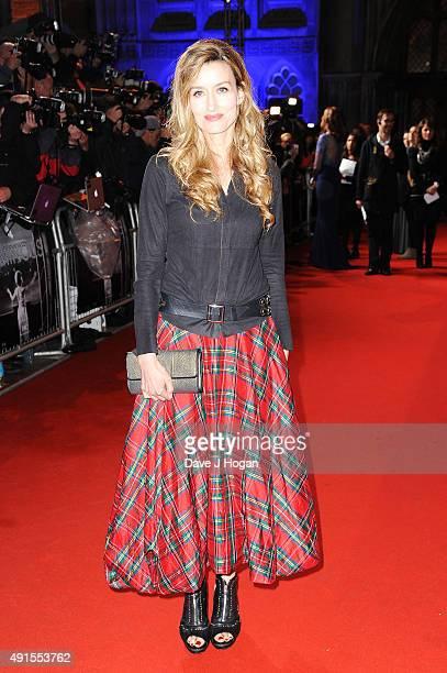 Natascha Mcelhone attends the BFI Luminous Funraising Gala at The Guildhall on October 6 2015 in London England