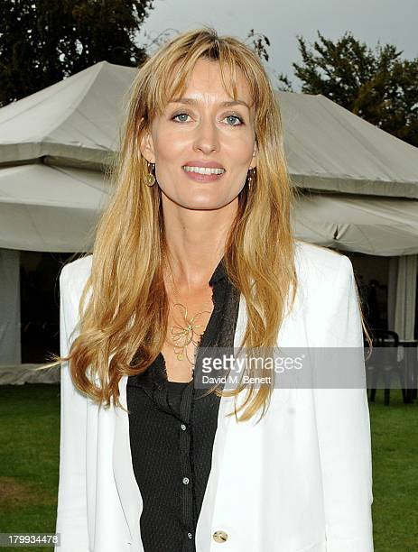 Natascha McElhone attends the first ever 'Words For Wickets' festival featuring teams made up of authors and actors at The Wormsley Estate on...