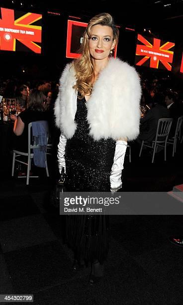 Natascha McElhone attends the Moet Reception at the Moet British Independent Film Awards 2013 at Old Billingsgate Market on December 8 2013 in London...