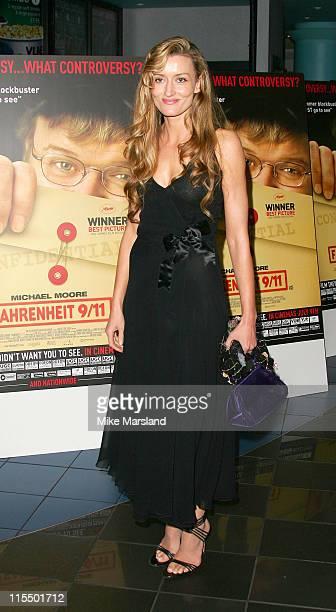 Natascha McElhone during 'Fahrenheit 9/11' London Screening Arrivals at Warner West End in London Great Britain