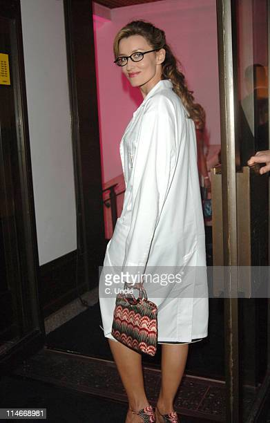 Natascha McElhone during Harpers Queen Launch 100 Most Beautiful Women of the 20th Century Exhibition at Selfridges in London Great Britain