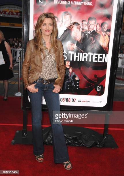 Natascha McElhone during Ocean's Thirteen Los Angeles Premiere Arrivals at Grauman's Chinese Theater in Los Angeles California United States