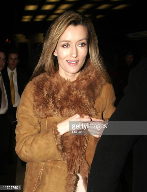 Natascha McElhone during The White Countess London Premiere Departures at Curzon Mayfair in London Great Britain