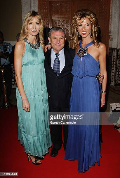 Natascha McElhone hotel owner Sol Kerzner and wife Heather Kerzner arrive for the grand opening night of the Kerzner Mazagan Beach Resort on October...