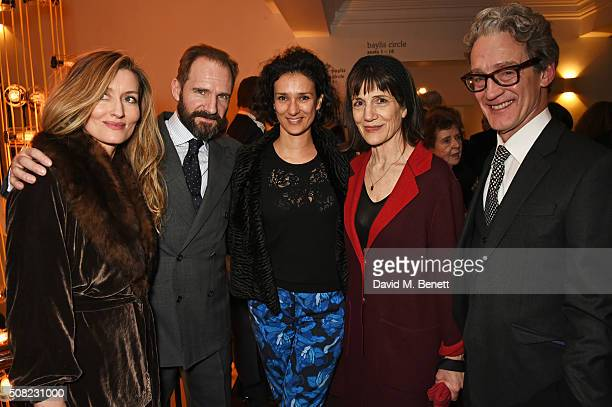 Natascha McElhone Ralph Fiennes Indira Varma Dame Harriet Walter and Guy Paul attend the press night after party for 'The Master Builder' at The Old...
