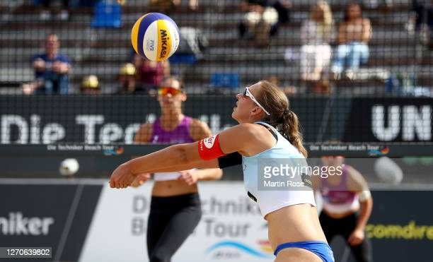 Natascha Niemczyk of Germany in action during the match against Anna-Lena Grüne and Kira Walkenhorst of Germany on day two of the German Beach...