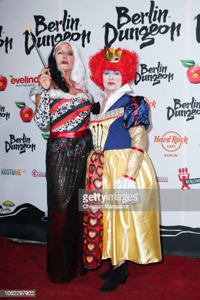 Natascha Ochsenknech and her mother Baerbel Wierichs attend the Halloween party by Natascha Ochsenknecht at Berlin Dungeon on October 16 2018 in...