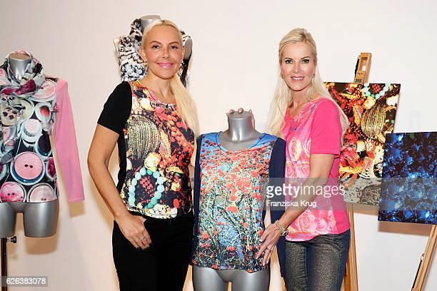 Natascha Ochsenknecht and Anna Heesch attend the presentation of the 'BILDSCHOEN' collection by Natascha Ochsenknecht at Ellington Hotel on November...